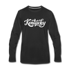 Kentucky Long Sleeve T-Shirt - Hand Lettered Unisex Kentucky Long Sleeve Shirt - black