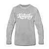 Kentucky Long Sleeve T-Shirt - Hand Lettered Unisex Kentucky Long Sleeve Shirt - heather gray