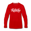 Kentucky Long Sleeve T-Shirt - Hand Lettered Unisex Kentucky Long Sleeve Shirt - red