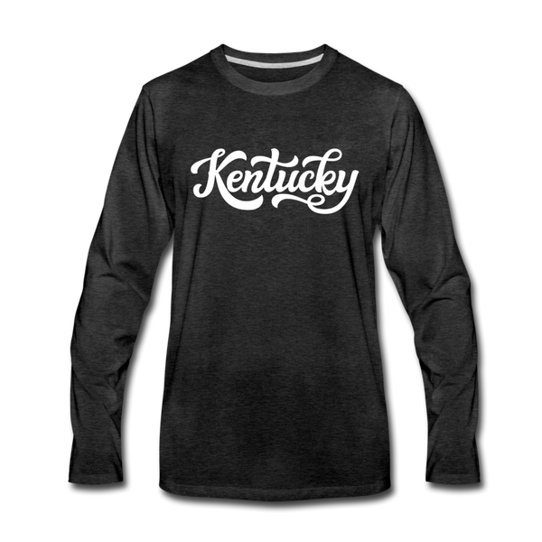 Kentucky Long Sleeve T-Shirt - Hand Lettered Unisex Kentucky Long Sleeve Shirt - charcoal gray