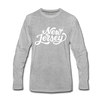 New Jersey Long Sleeve T-Shirt - Hand Lettered Unisex New Jersey Long Sleeve Shirt - heather gray