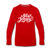 New Jersey Long Sleeve T-Shirt - Hand Lettered Unisex New Jersey Long Sleeve Shirt - red