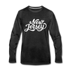 New Jersey Long Sleeve T-Shirt - Hand Lettered Unisex New Jersey Long Sleeve Shirt - charcoal gray