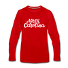 North Carolina Long Sleeve T-Shirt - Hand Lettered Unisex North Carolina Long Sleeve Shirt - red