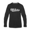 Oklahoma Long Sleeve T-Shirt - Hand Lettered Unisex Oklahoma Long Sleeve Shirt - black