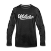 Oklahoma Long Sleeve T-Shirt - Hand Lettered Unisex Oklahoma Long Sleeve Shirt - charcoal gray