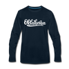 Oklahoma Long Sleeve T-Shirt - Hand Lettered Unisex Oklahoma Long Sleeve Shirt - deep navy