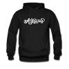 Arkansas Hoodie - Hand Lettered Unisex Arkansas Hooded Sweatshirt - black