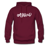 Arkansas Hoodie - Hand Lettered Unisex Arkansas Hooded Sweatshirt - burgundy