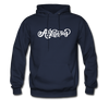 Arkansas Hoodie - Hand Lettered Unisex Arkansas Hooded Sweatshirt - navy