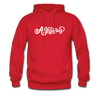 Arkansas Hoodie - Hand Lettered Unisex Arkansas Hooded Sweatshirt - red