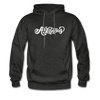 Arkansas Hoodie - Hand Lettered Unisex Arkansas Hooded Sweatshirt - charcoal gray
