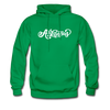 Arkansas Hoodie - Hand Lettered Unisex Arkansas Hooded Sweatshirt - kelly green