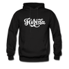 Florida Hoodie - Hand Lettered Unisex Florida Hooded Sweatshirt - black