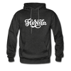 Florida Hoodie - Hand Lettered Unisex Florida Hooded Sweatshirt - charcoal gray