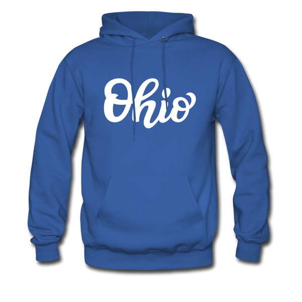 Ohio Hoodie - Hand Lettered Unisex Ohio Hooded Sweatshirt - royal blue