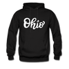 Ohio Hoodie - Hand Lettered Unisex Ohio Hooded Sweatshirt - black