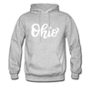 Ohio Hoodie - Hand Lettered Unisex Ohio Hooded Sweatshirt - heather gray