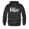 Ohio Hoodie - Hand Lettered Unisex Ohio Hooded Sweatshirt - charcoal gray