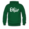 Ohio Hoodie - Hand Lettered Unisex Ohio Hooded Sweatshirt - forest green