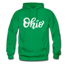 Ohio Hoodie - Hand Lettered Unisex Ohio Hooded Sweatshirt - kelly green