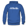 Nebraska Hoodie - Hand Lettered Unisex Nebraska Hooded Sweatshirt - royal blue