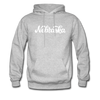 Nebraska Hoodie - Hand Lettered Unisex Nebraska Hooded Sweatshirt - heather gray