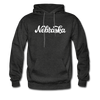 Nebraska Hoodie - Hand Lettered Unisex Nebraska Hooded Sweatshirt - charcoal gray
