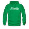 Nebraska Hoodie - Hand Lettered Unisex Nebraska Hooded Sweatshirt - kelly green