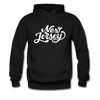 New Jersey Hoodie - Hand Lettered Unisex New Jersey Hooded Sweatshirt - black