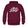 New Jersey Hoodie - Hand Lettered Unisex New Jersey Hooded Sweatshirt - burgundy