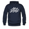 New Jersey Hoodie - Hand Lettered Unisex New Jersey Hooded Sweatshirt - navy