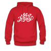 New Jersey Hoodie - Hand Lettered Unisex New Jersey Hooded Sweatshirt - red