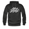 New Jersey Hoodie - Hand Lettered Unisex New Jersey Hooded Sweatshirt - charcoal gray