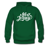 New Jersey Hoodie - Hand Lettered Unisex New Jersey Hooded Sweatshirt - forest green