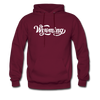 Wyoming Hoodie - Hand Lettered Unisex Wyoming Hooded Sweatshirt - burgundy