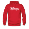 Wyoming Hoodie - Hand Lettered Unisex Wyoming Hooded Sweatshirt - red