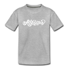Arkansas Youth T-Shirt - Hand Lettered Youth Arkansas Tee - heather gray