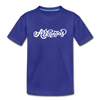 Arkansas Youth T-Shirt - Hand Lettered Youth Arkansas Tee - royal blue