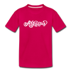 Arkansas Youth T-Shirt - Hand Lettered Youth Arkansas Tee - dark pink
