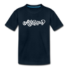 Arkansas Youth T-Shirt - Hand Lettered Youth Arkansas Tee - deep navy