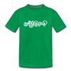 Arkansas Youth T-Shirt - Hand Lettered Youth Arkansas Tee - kelly green