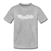 Minnesota Youth T-Shirt - Hand Lettered Youth Minnesota Tee - heather gray