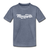 Minnesota Youth T-Shirt - Hand Lettered Youth Minnesota Tee - heather blue