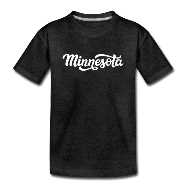 Minnesota Youth T-Shirt - Hand Lettered Youth Minnesota Tee - charcoal gray
