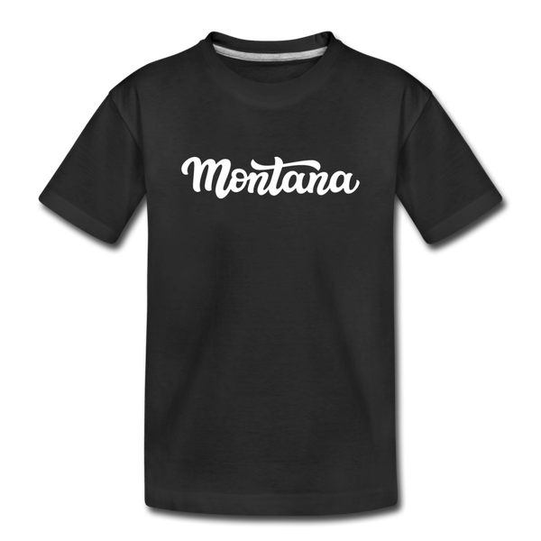 Montana Youth T-Shirt - Hand Lettered Youth Montana Tee - black