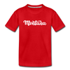 Montana Youth T-Shirt - Hand Lettered Youth Montana Tee - red