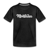 Montana Youth T-Shirt - Hand Lettered Youth Montana Tee - charcoal gray