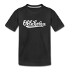 Oklahoma Youth T-Shirt - Hand Lettered Youth Oklahoma Tee - black