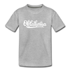 Oklahoma Youth T-Shirt - Hand Lettered Youth Oklahoma Tee - heather gray